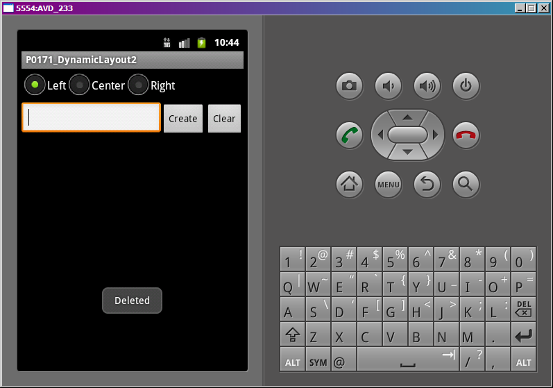 Lesson 17. Creating View-components in a running application